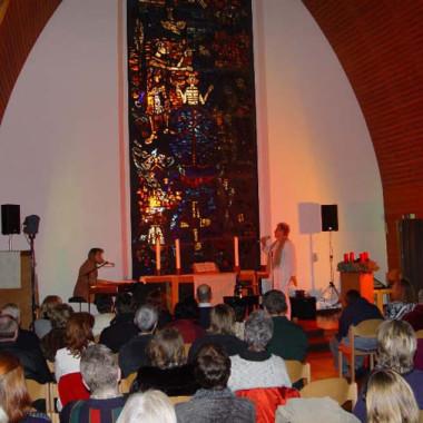 mit Dora Michel, Weihnachtskonzert Johannes Kirche, Bad Nauheim, 2004