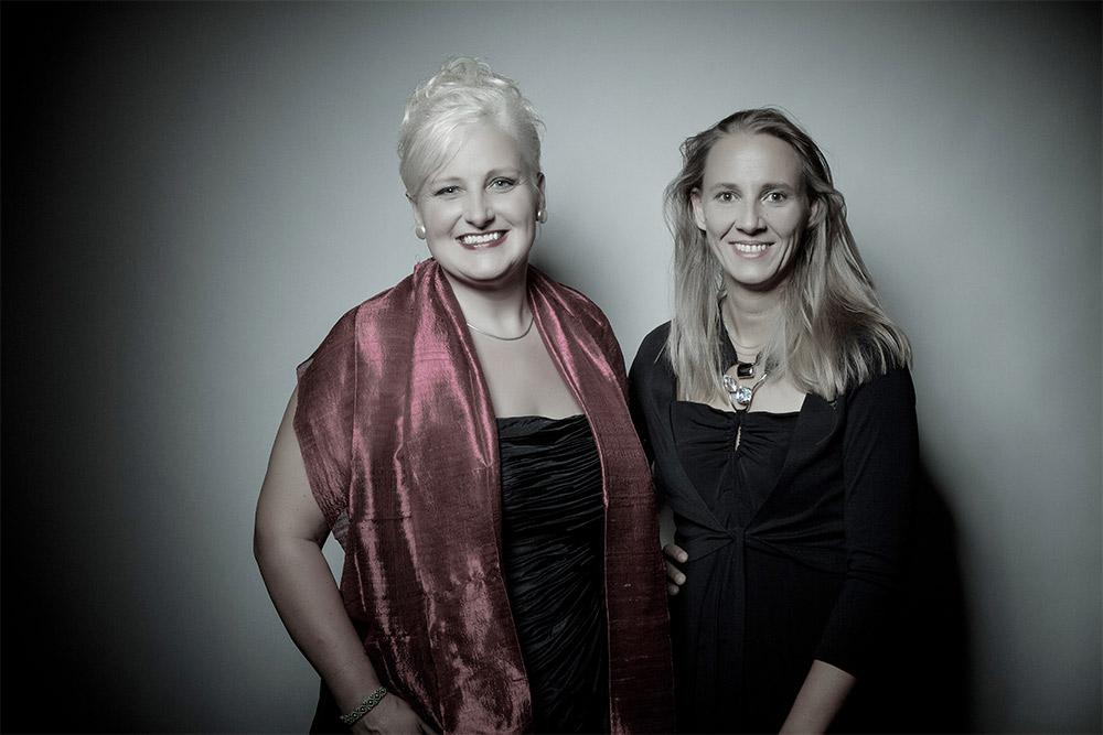 Dora Michel und Claudia Zinselrling